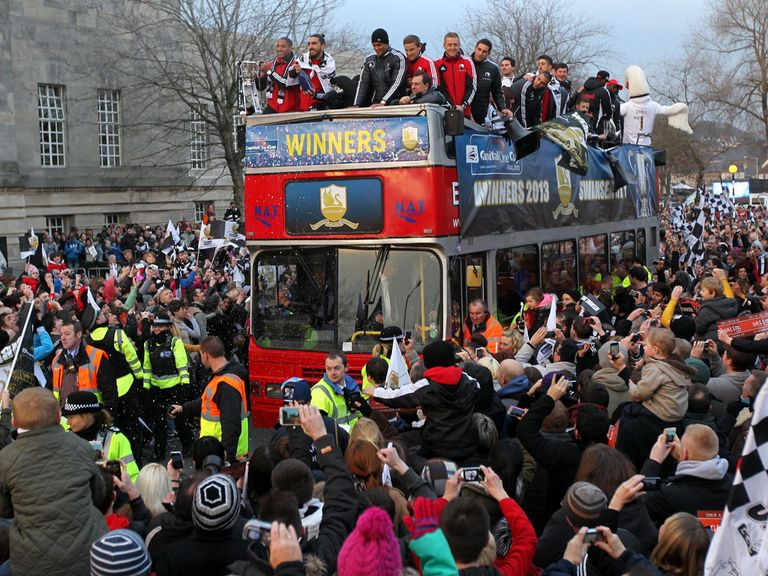 Swansea parade the Capital One Cup