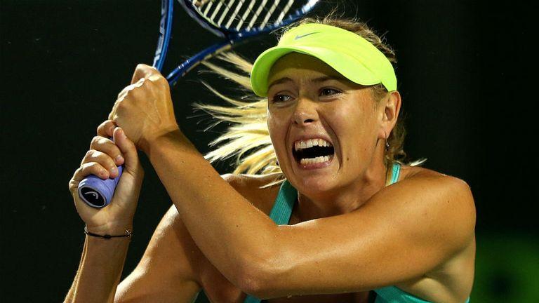 Maria Sharapova: Raced to a straight-sets win
