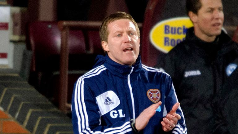 Gary Locke: Rare away victory for Hearts manager