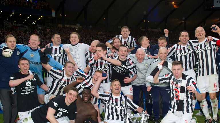 St Mirren: Celebrate after winning this season's Scottish League Cup