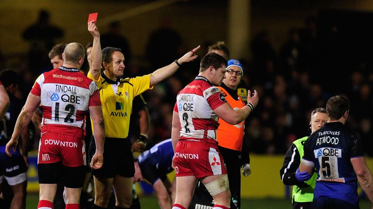 Darren Dawidiuk: received his marching orders after dangerous tackle on Dave Attwood