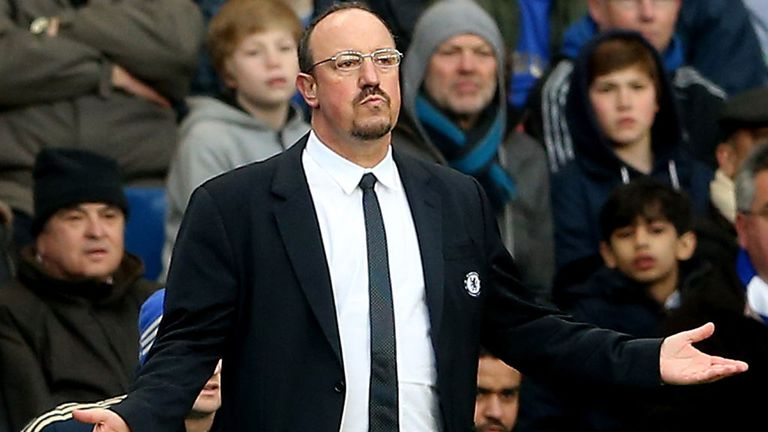 Rafa Benitez: Chelsea interim boss calm over bid to finish in top four