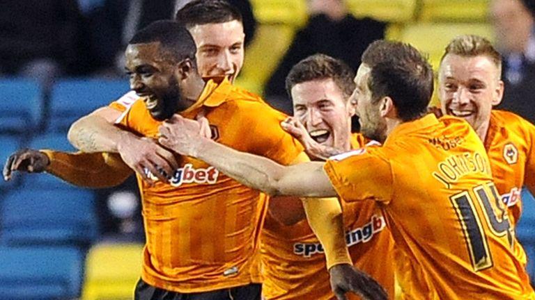 Sylvan Ebanks-Blake celebrates Wolves' second