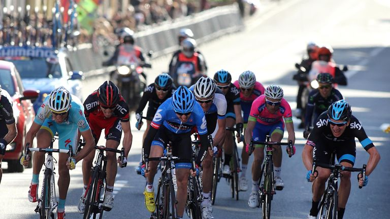 Sir Bradley Wiggins: Led out the sprint by Gianni Meersman took victory