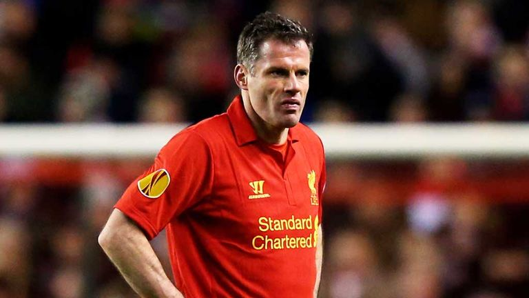 Jamie Carragher will make his 737th appearance for Liverpool on Sunday
