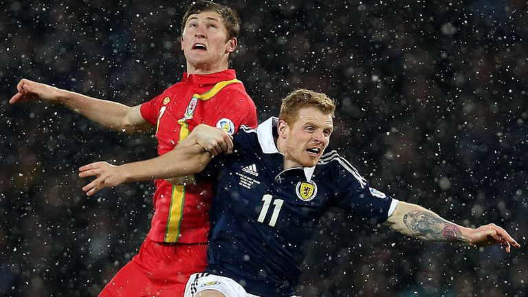Chris Burke in action for Scotland during Friday's defeat by Wales