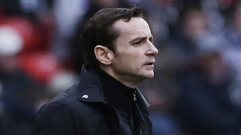 Danny Lennon: Praised his side's first-half efforts.