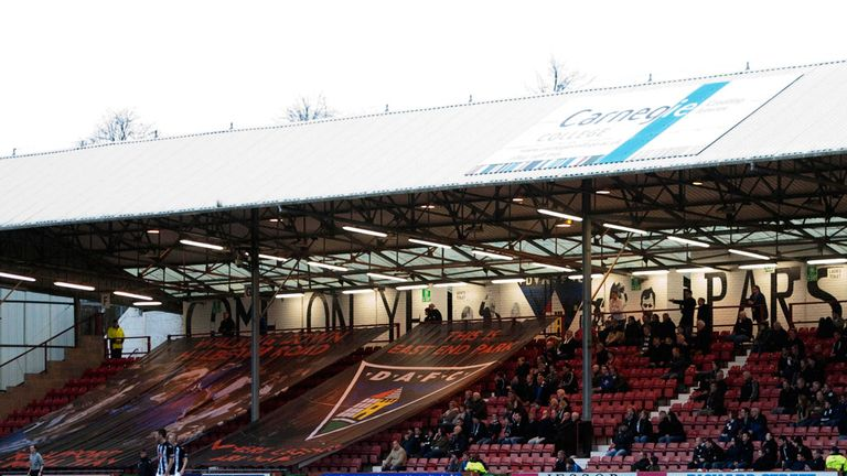East End Park: Dunfermline fans may have to reach an agreement with the owner of the ground