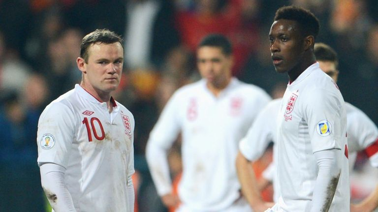 Rooney & Welbeck: disappointment for England