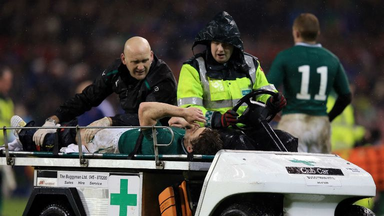 Eoin Reddan: Needed oxygen before being taken off the field during Ireland's draw with France