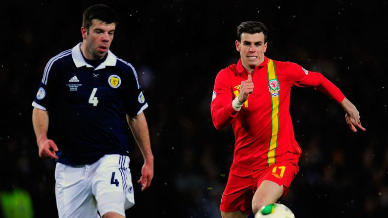 Gareth Bale: Tottenham winger in action for Wales against Scotland