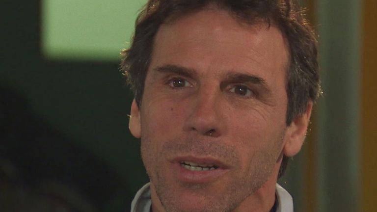 Gianfranco Zola: selected Wise ahead of Deschamps, Albertini and Alemao