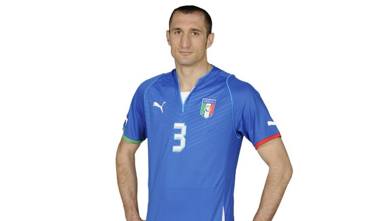Giorgio Chiellini: Italy will wear their new kit for the first time in Thursday's friendly with Brazil