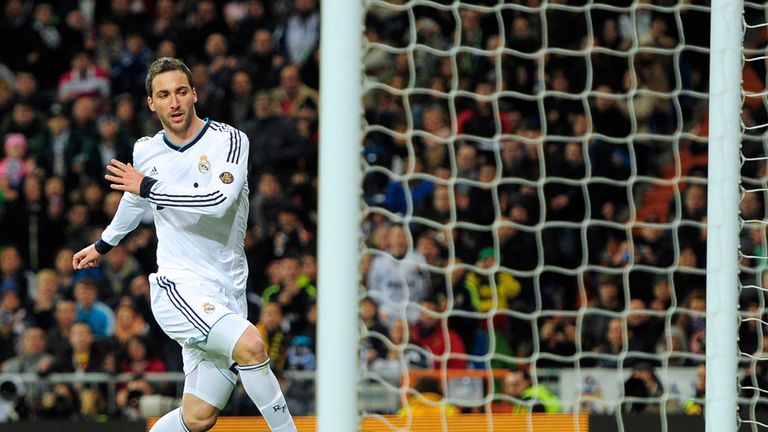 Gonzalo Higuain levels for Real Madrid