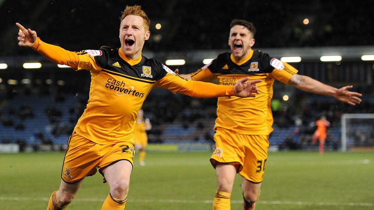 Stephen Quinn: Hull's goalscorer celebrates his winner