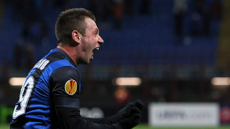 Antonio Cassano: Set to stay at Inter Milan, says the striker's agent