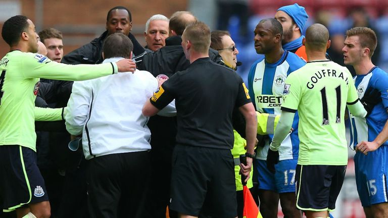John Carver and Graham Barrow: Charged after DW Stadium bust-up
