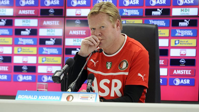 Ronald Koeman: Eyeing the Eredivisie title with Feyenoord