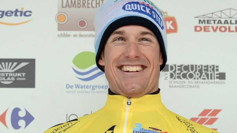 Kristof Vandewalle: All smiles on the podium in yellow