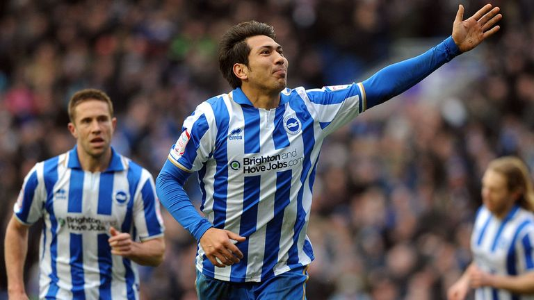 Leonardo Ulloa: His hat-trick kept Brighton sixth in Championship
