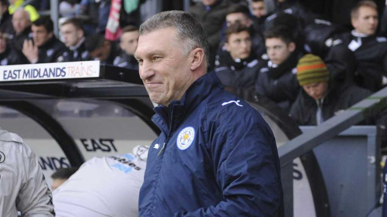 Nigel Pearson: Urged his Leicester players to keep their nerve