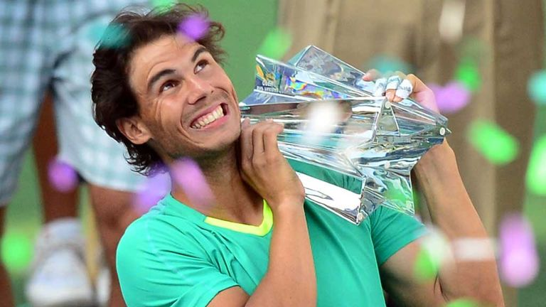 Rafael Nadal: Looked back to his best at the BNP Paribas Open at Indian Wells