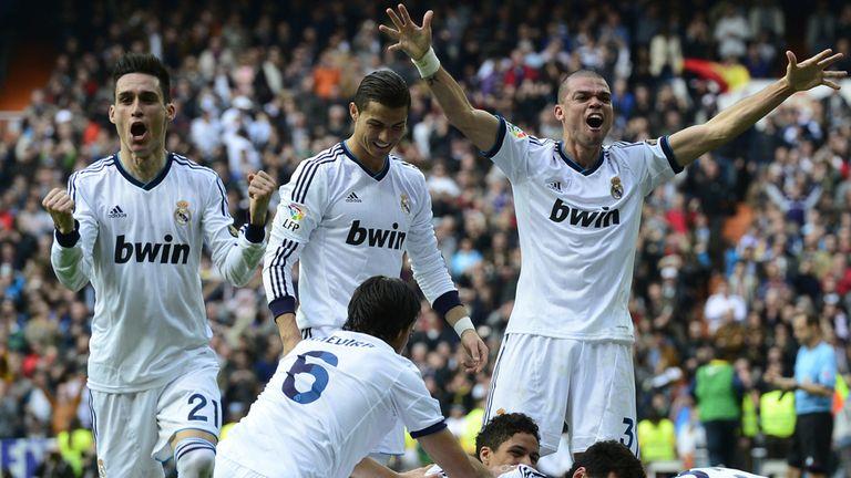 Real Madrid: Celebrating win