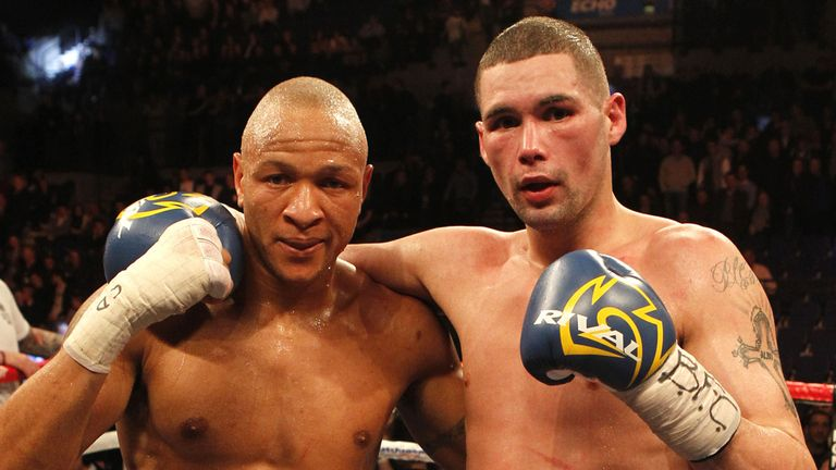 Tony Bellew with Issac Chilemba: Bout was scored a draw in Liverpool