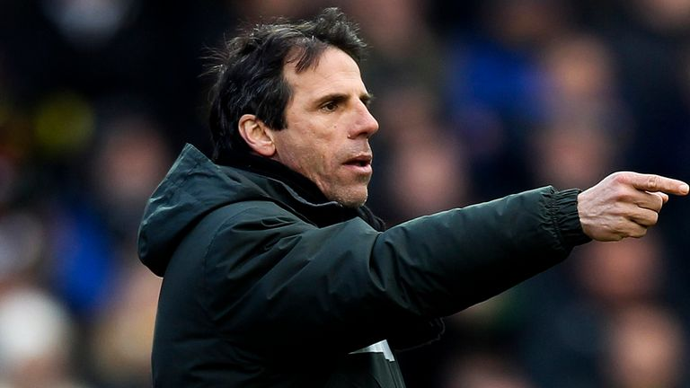 "Gianfranco Zola: Urged his side to ""grow up quickly"""