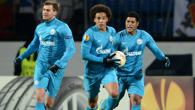 Axel Witsel scored for Zenit St Petersburg on the night but it was not enough