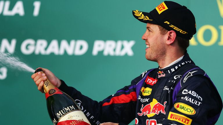 Vettel finished third in Sunday's race