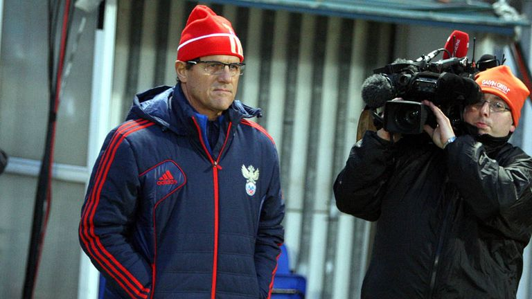 Fabio Capello: The Russia boss has announced his squad for next month's game against Portugal