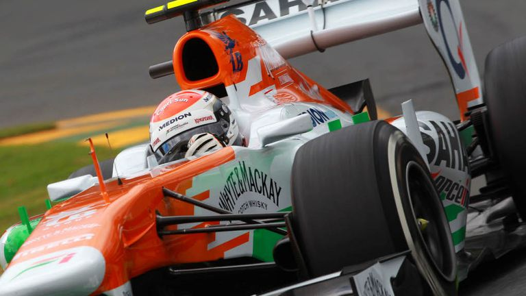 Adrian Sutil: Led his comeback race