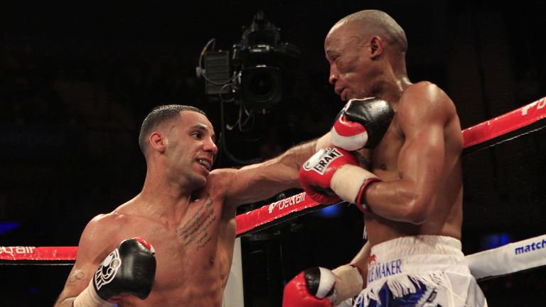 Yafai throws a left hand despite carrying an injury last weekend (Pic Lawrence Lustig)