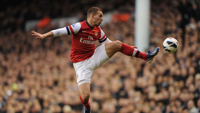 Lukas Podolski: Dismisses links to a move away from the Emirates