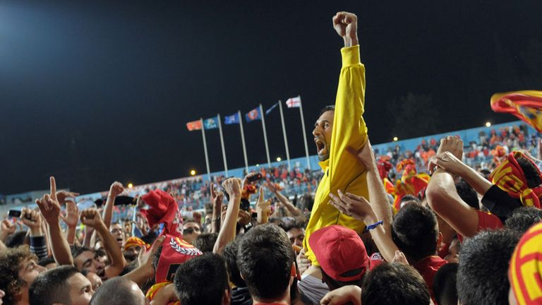 Montenegro fans: Invaded the pitch after England drew 2-2 in Podgorica in October 2011