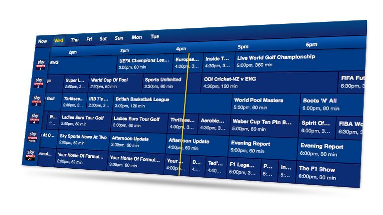 sky sports tv guide