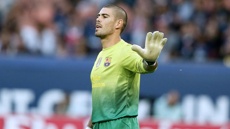Victor Valdes: Barcelona goalkeeper staying put for the time being
