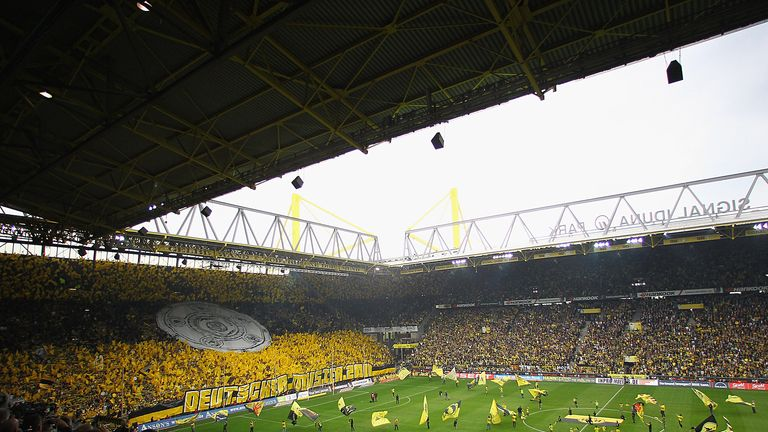 Westfalenstadion: Fans will be allowed in to the ground for the Revierderby