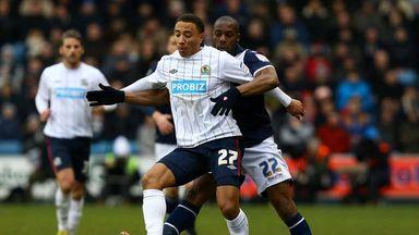 Adam Henley: Blackburn defender in action against Millwall