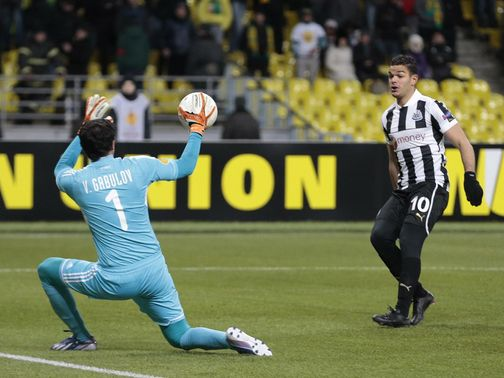 Hatem Ben Arfa went close with this chance for Newcastle