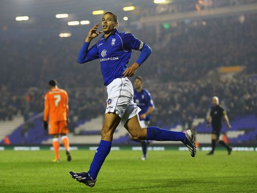 Curtis Davies celebrates his goal for Birmingham