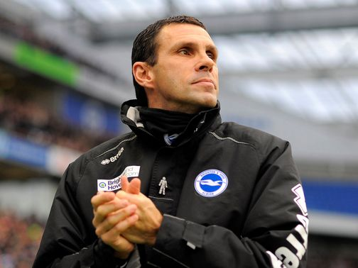 Gus Poyet: Has decided to remain with Brighton
