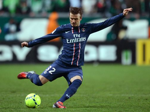 David Beckham: Narrowly missed late chance to win the game