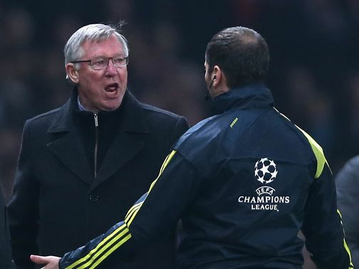 Sir Alex Ferguson: Refused to speak to the media after CL exit