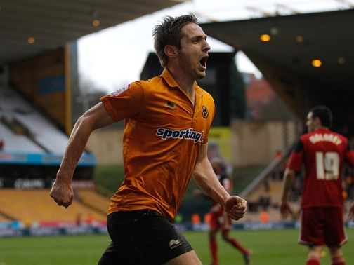 Kevin Doyle celebrates his goal for Wolves