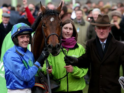 Connections celebrate Hurricane Fly's Champion Hurdle win