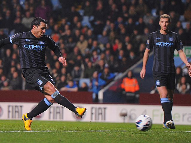 Tevez slots home the winner moments before half time