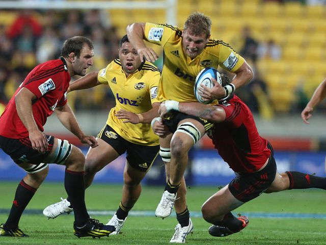 Brad Shields of the Hurricanes bursts forward