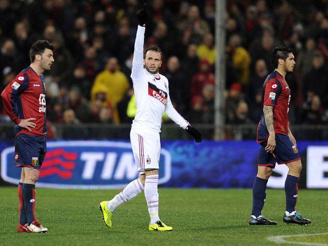 Giampaolo Pazzini scored AC Milan's opening goal